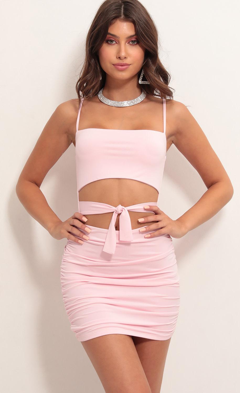 Daytona Cutout Dress in Light Pink