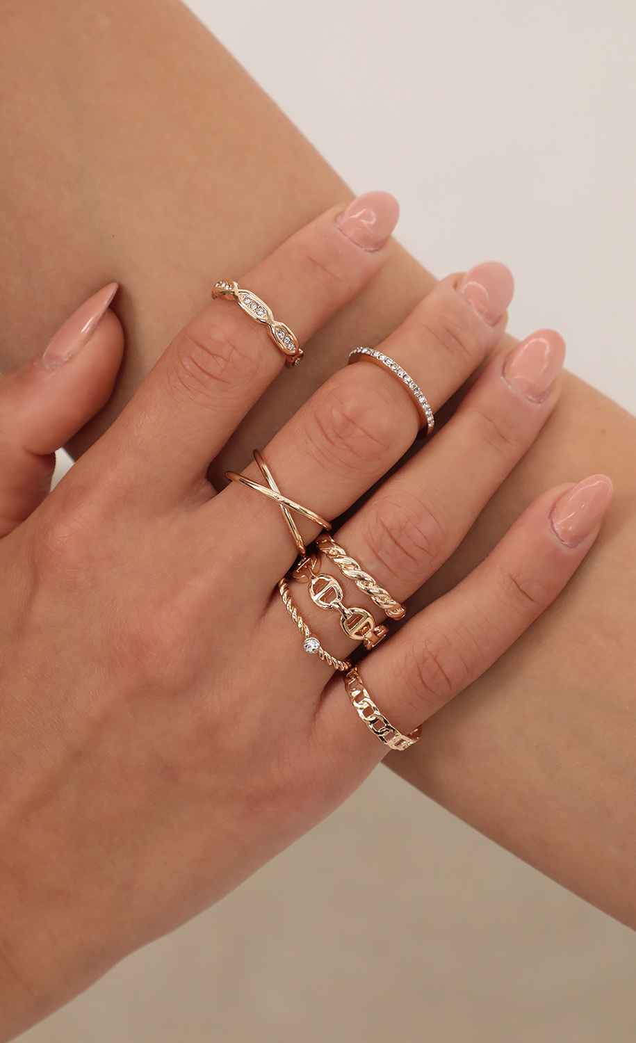 Stack Me Up  Ring Set in Gold