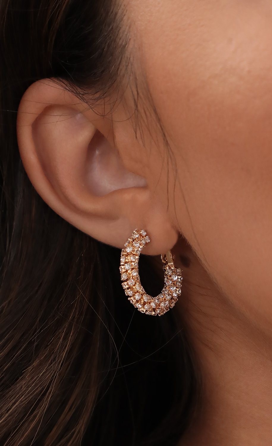 Glitter Gold Mini Hoops