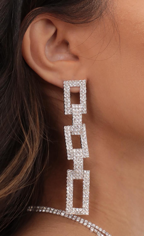 Let's Link Up Rhinestone Earrings