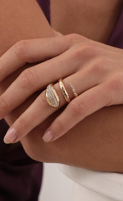 Pave Gold Snake Ring