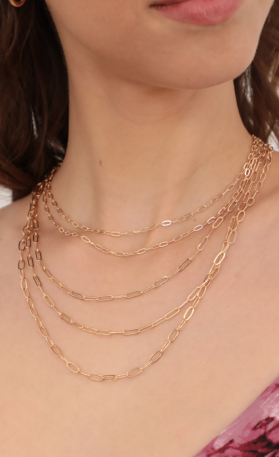 5 layer Link Chain in Gold