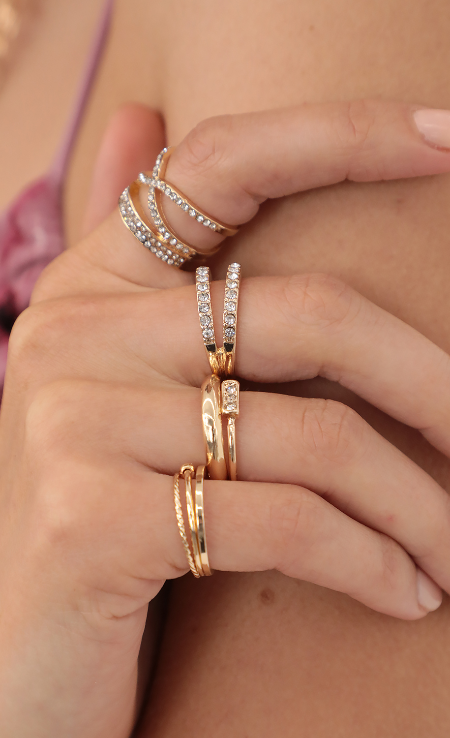 I Want It - 5 Piece Ring Set in Gold