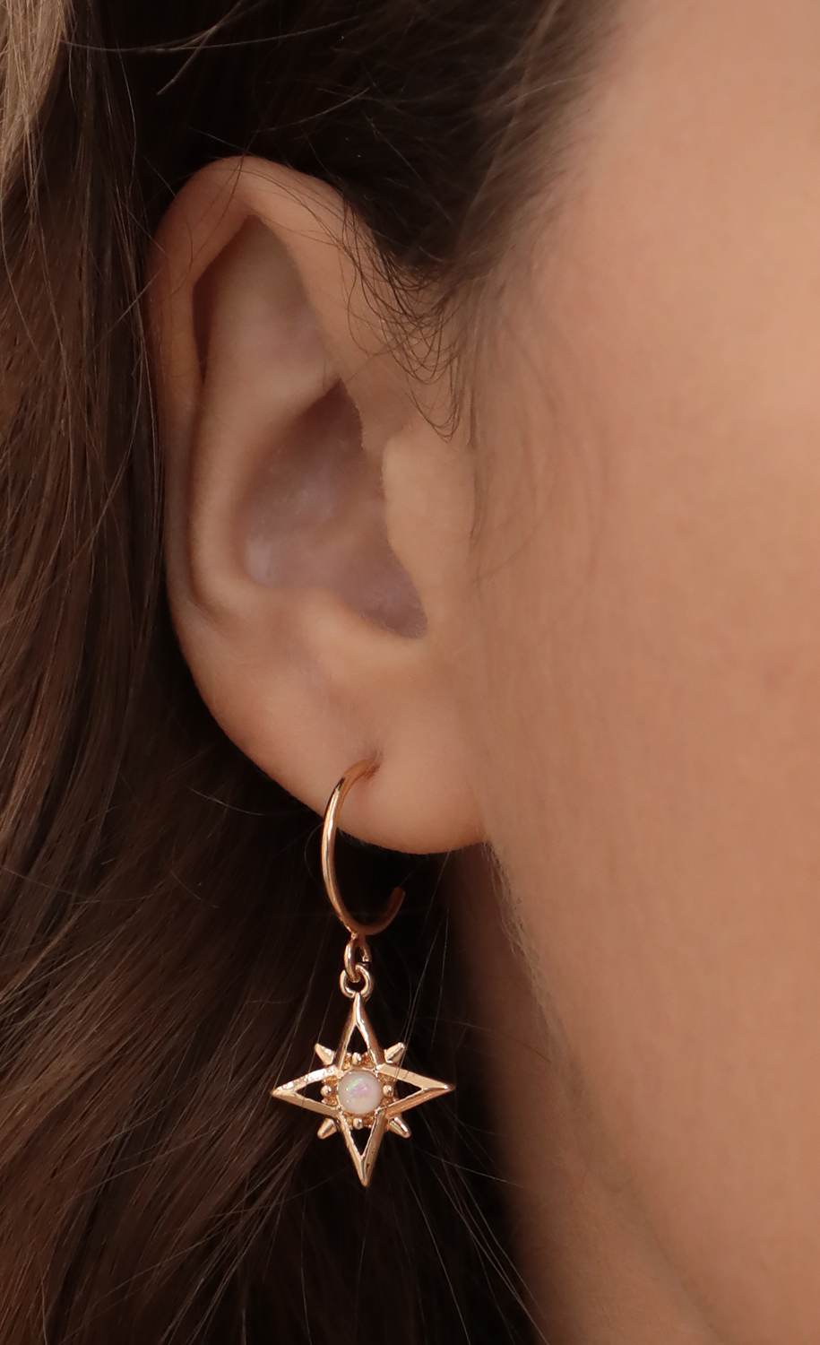 Moon And Star Gold Hoops