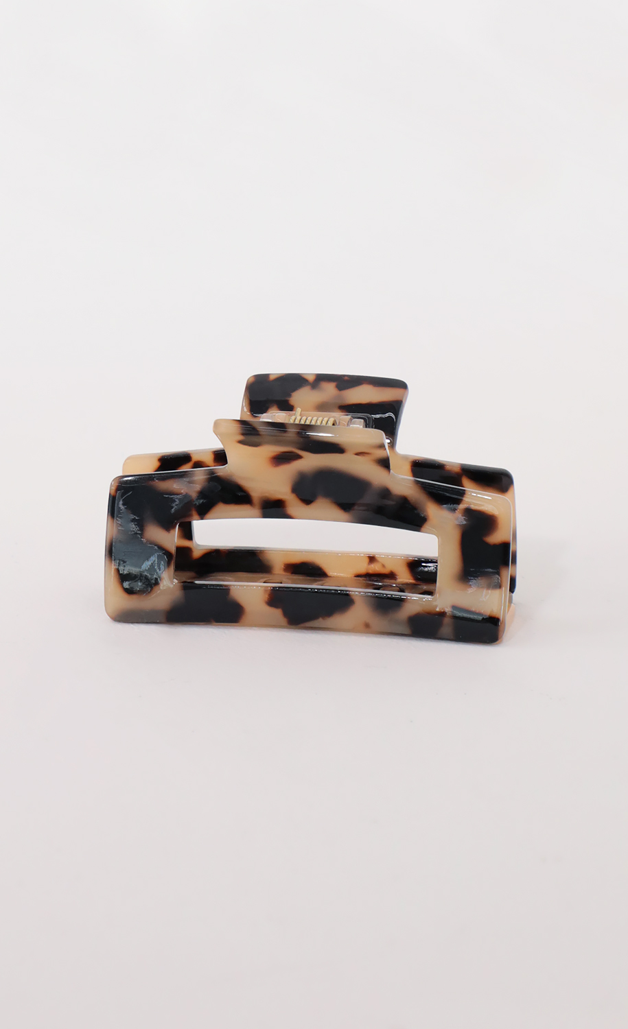 Jennie Hair Clip in Brown Marble