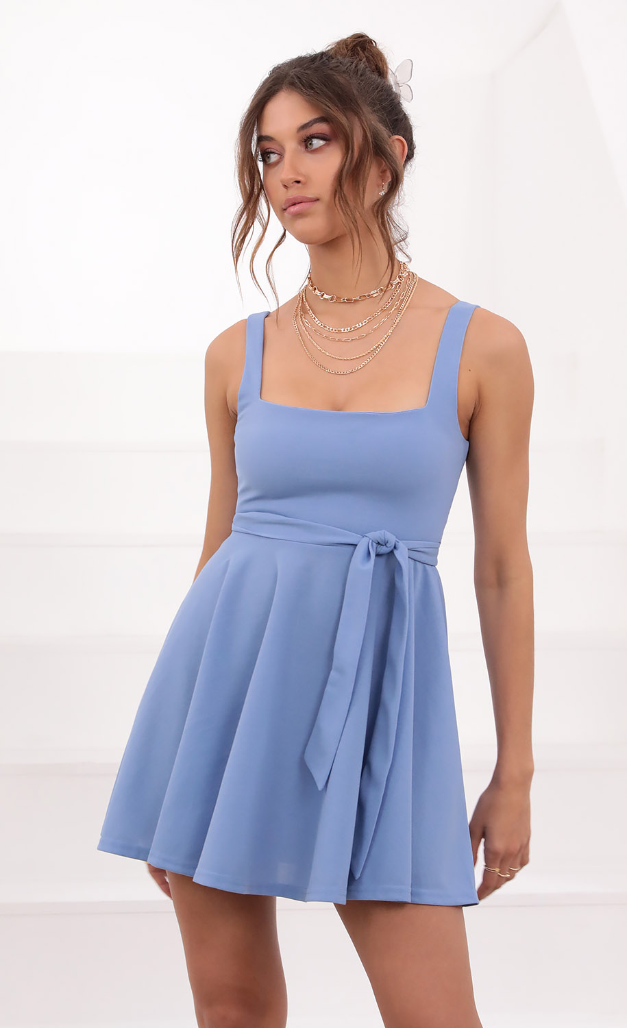 Key West A-line Dress in Palace Blue