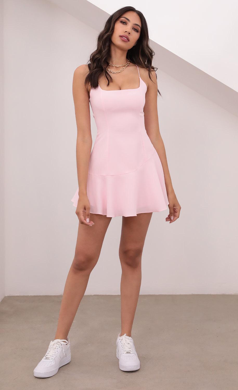 Lolita Ruffle Dress in Pink