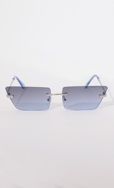 Fairfax Rimless Sunglasses in Blue