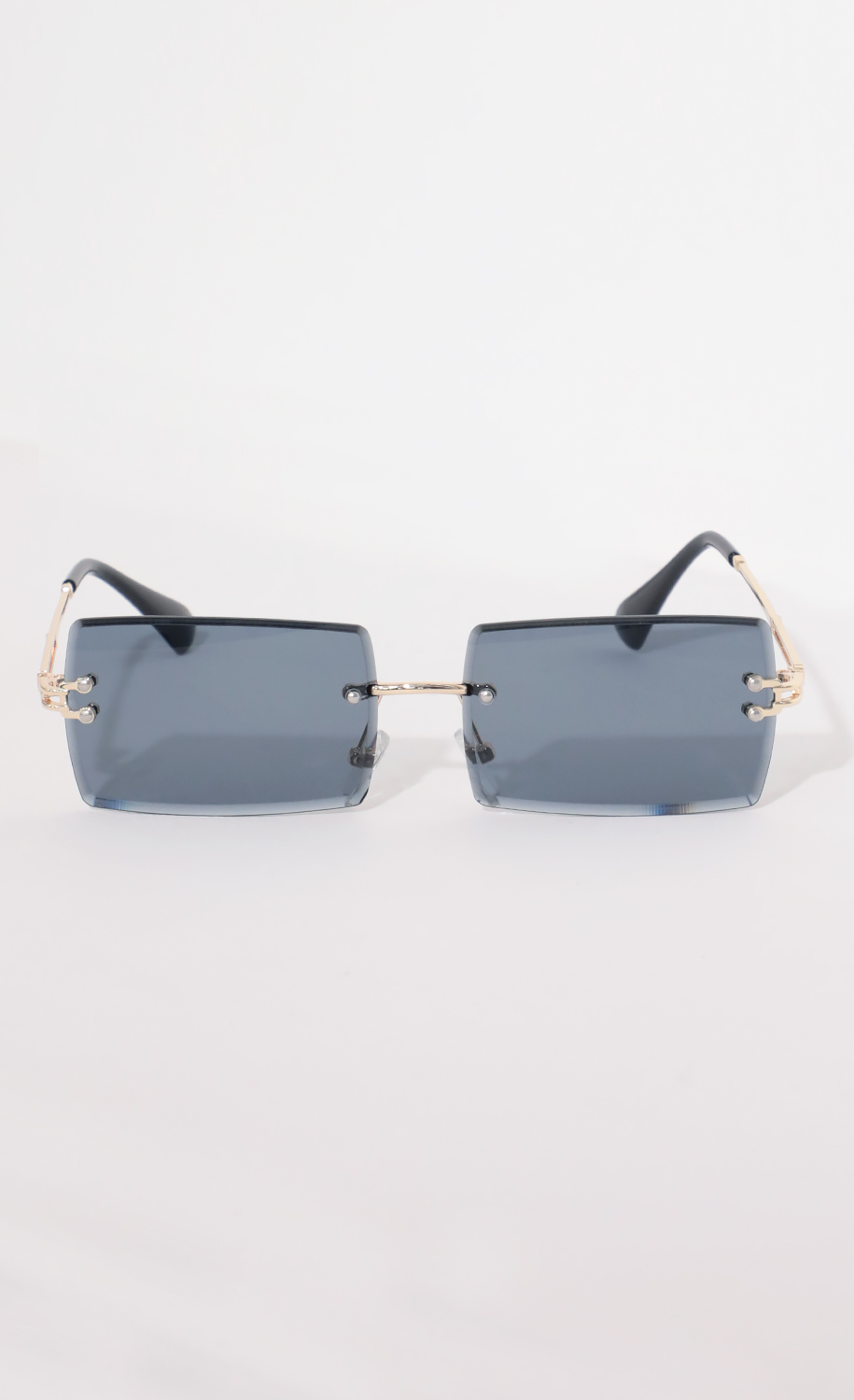 90s Baby Rectangle Sunglasses in Navy