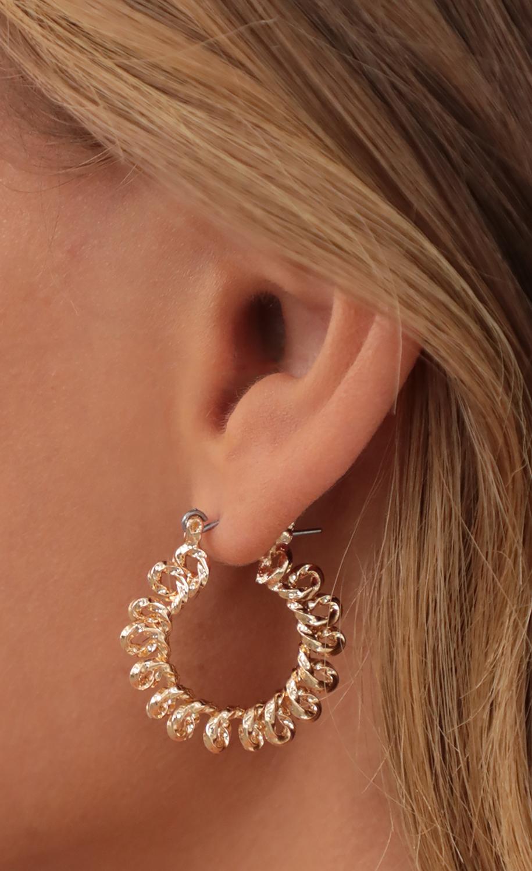 Spiral Gold Hoop Earrings