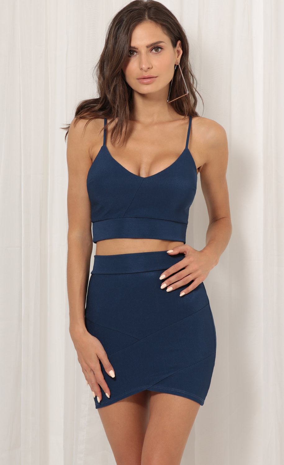 Poppy Two Piece Set In Navy