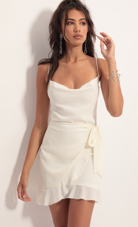 Positano Chiffon Tie Dress in Ivory