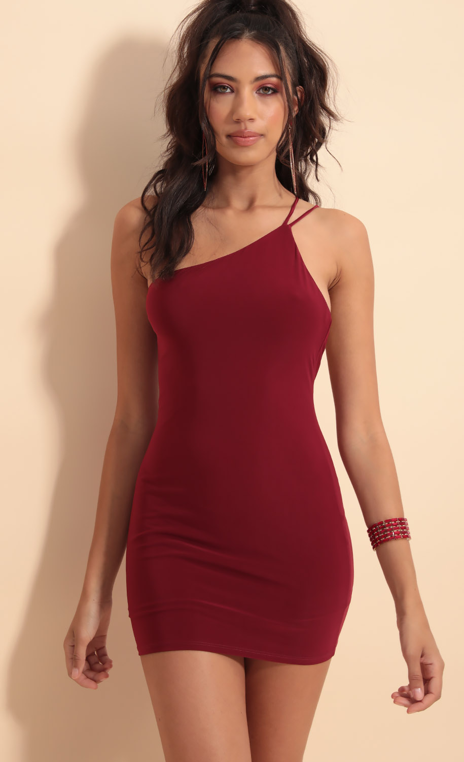 Late Night Venezia Dress in Burgundy