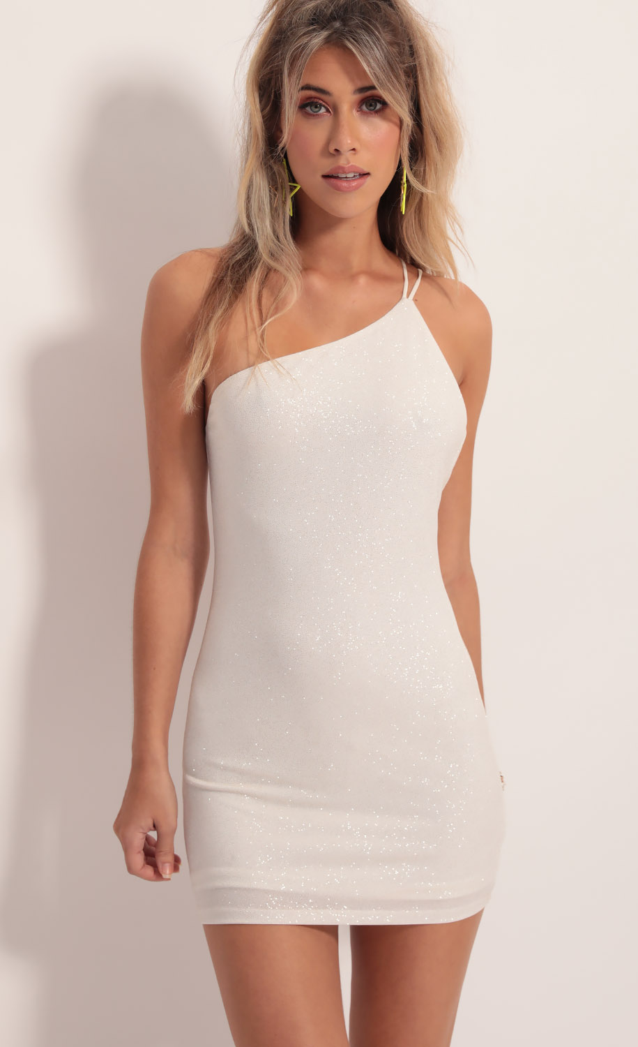 Late Night Sparkling Dress in Ivory Gold