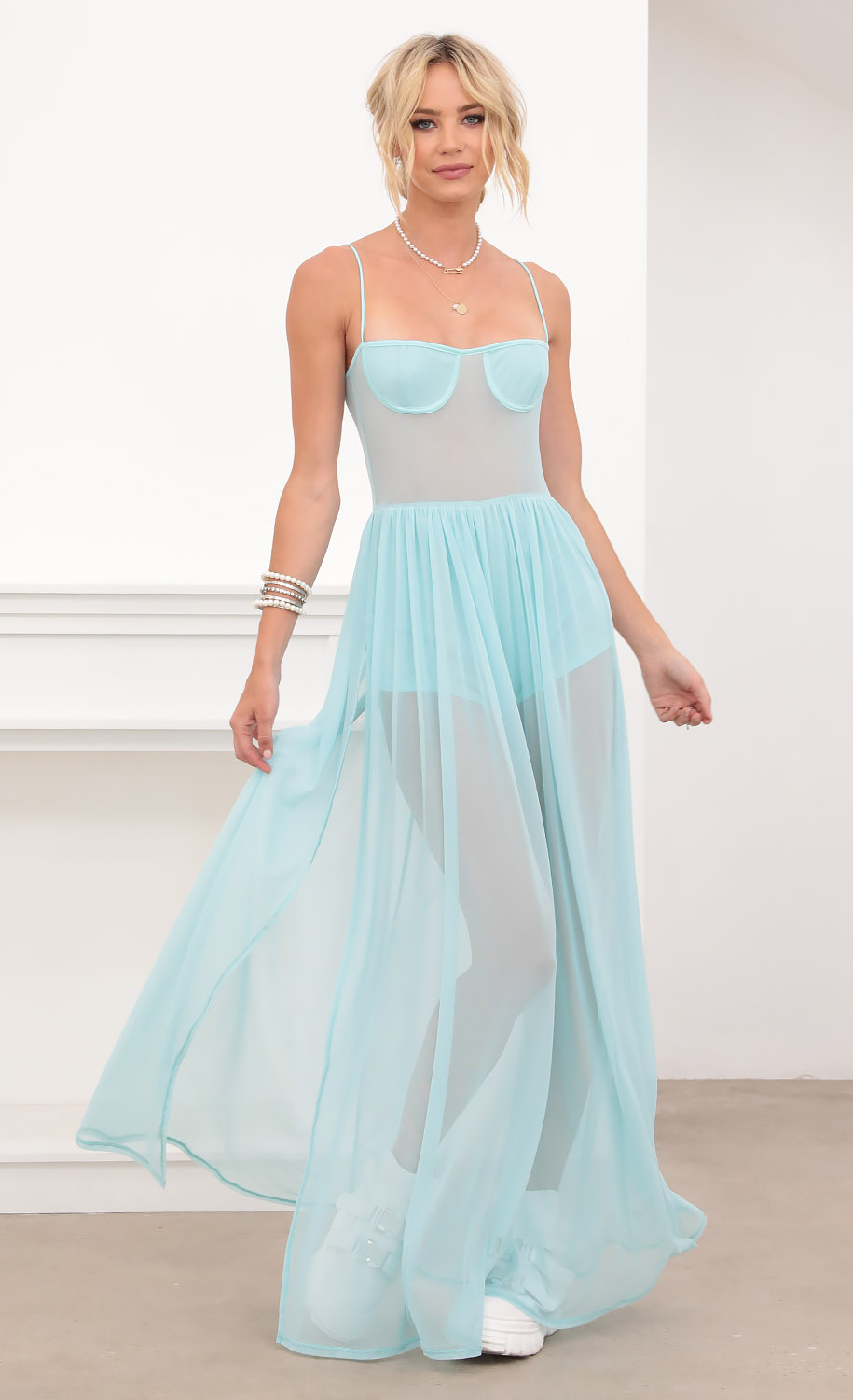 Fairy Princess Maxi in Aqua