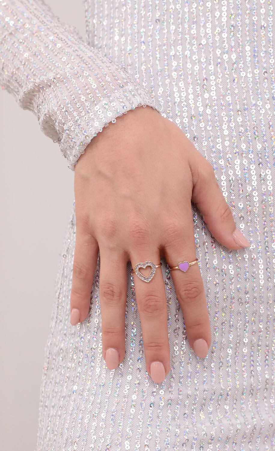 Lovers and Friends Ring Set in Purple