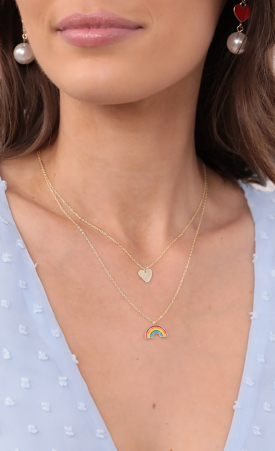 Luck Of The Rainbow Necklace in Gold