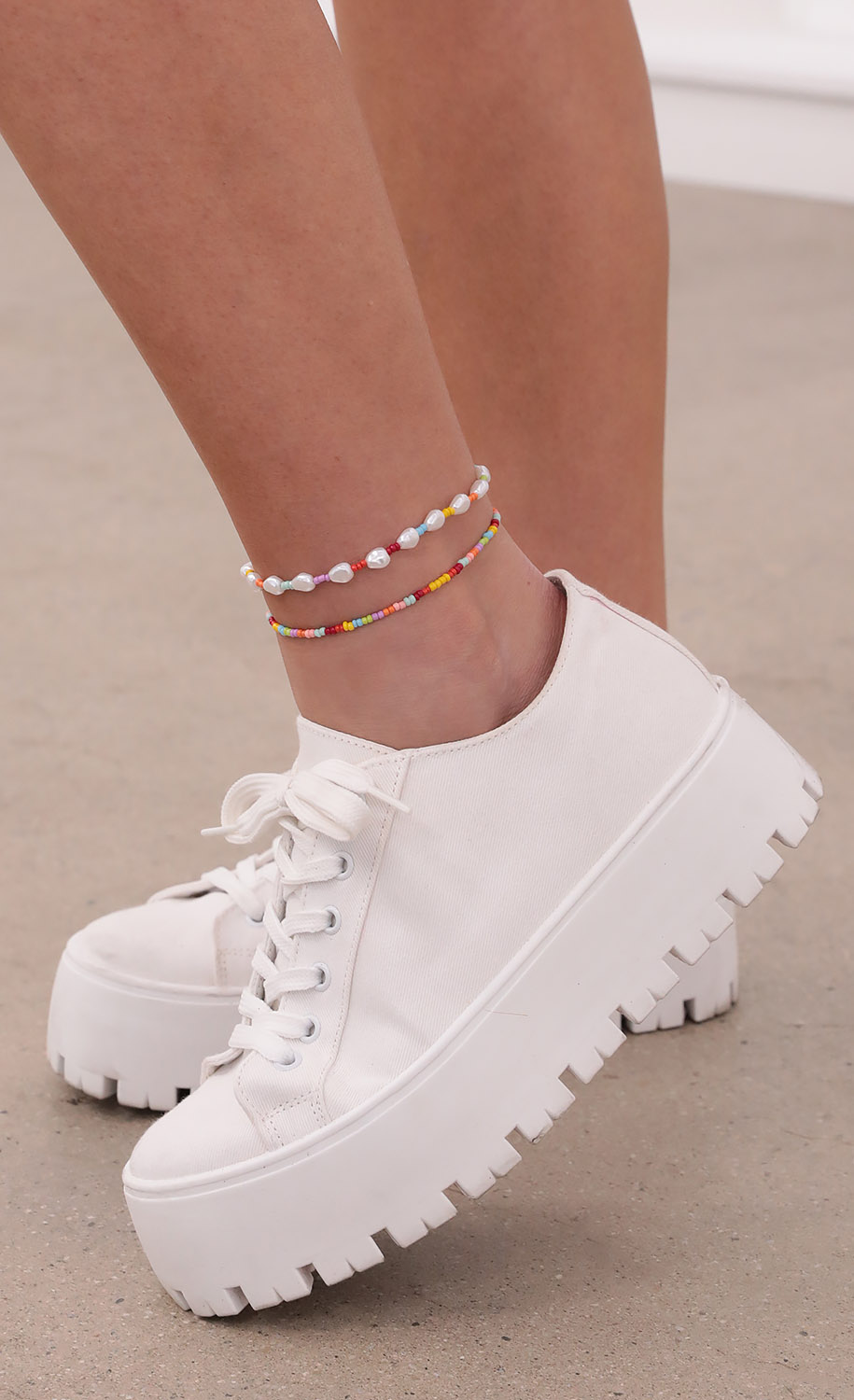 For The Love of Beads Anklet Set
