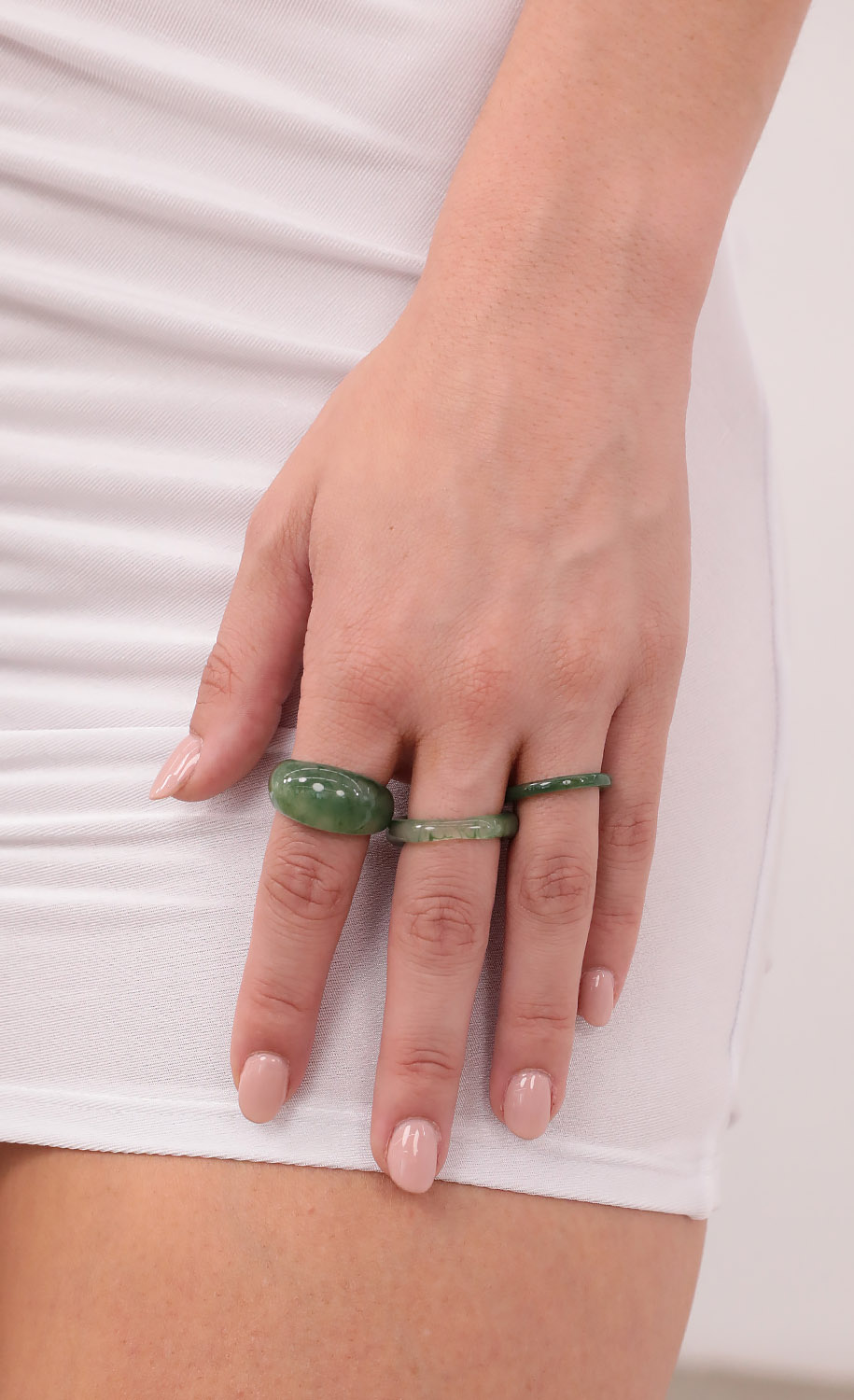 All About Me Acrylic Rings in Green