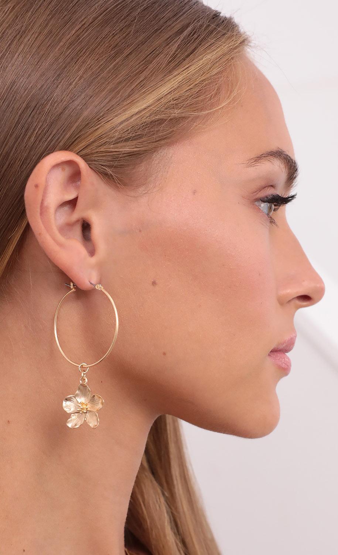 Aloha Girl Dangle Earrings in Gold
