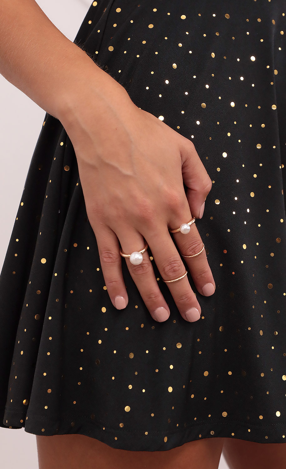 Catch Me If You Can Pearl Rings in Gold