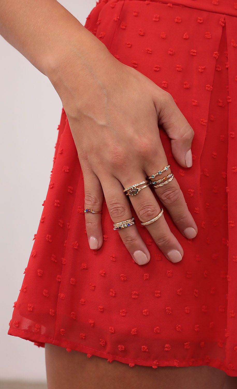 Serenity Stackable Ring Set in Gold