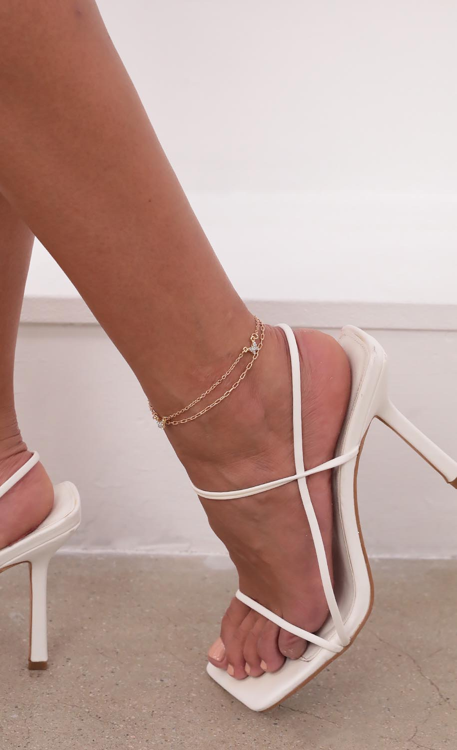 Mystery Wings Layered Anklet in Gold