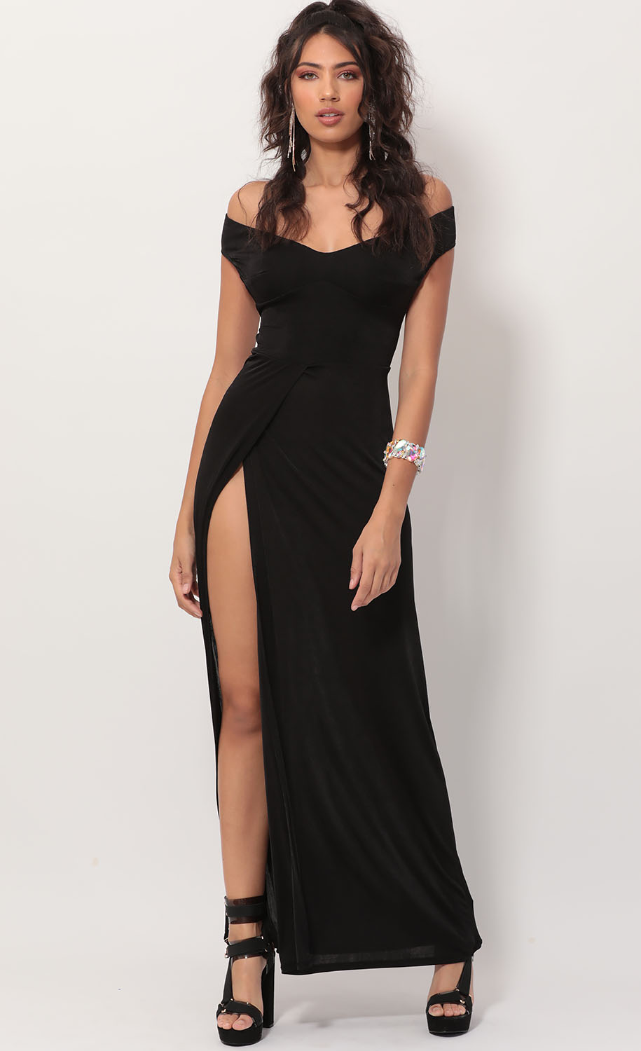 Dianna Luxe Maxi Dress in Black