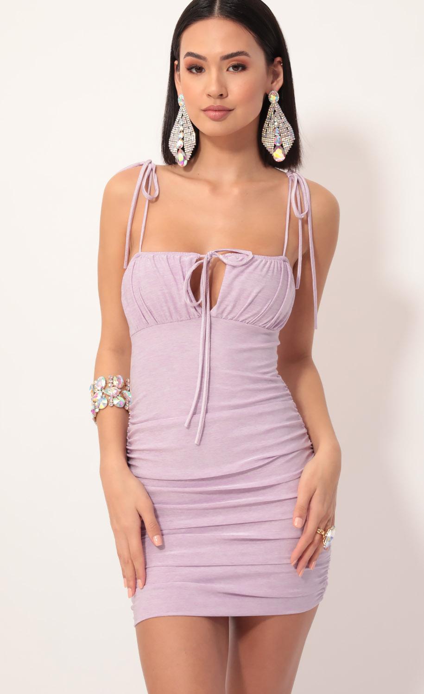 Cupid Ties Dress in Lavender