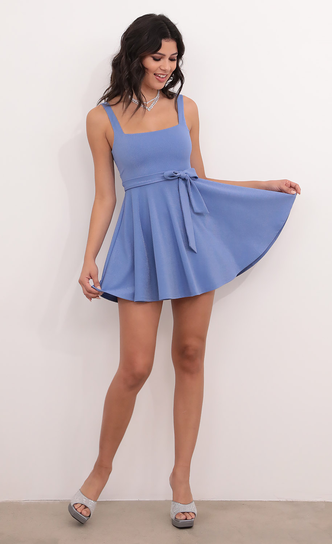 Key West A-line Dress in Blue Shimmer