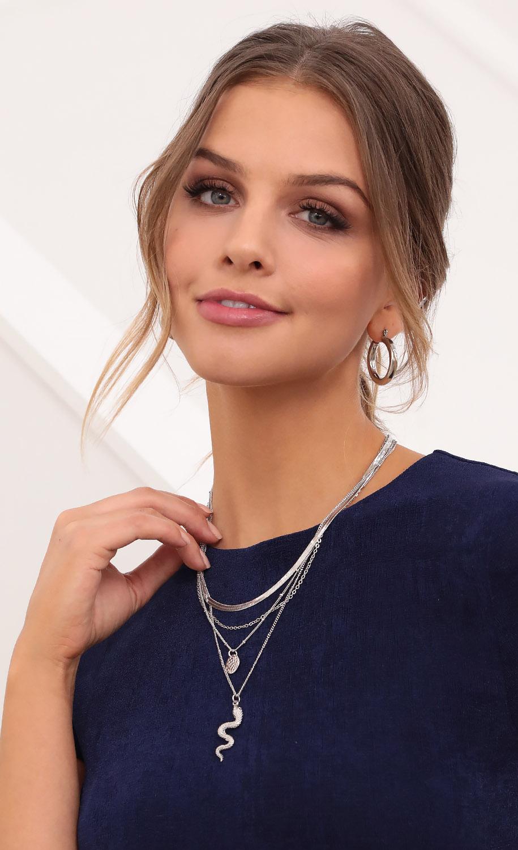 Slithering Layered Necklace Set