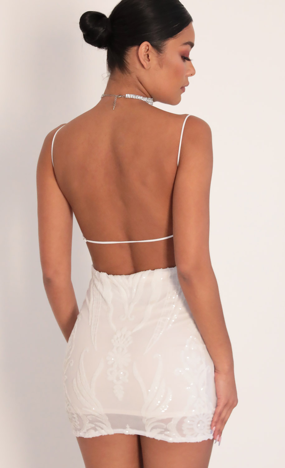 Party Dresses Starstruck Strappy Dress In White