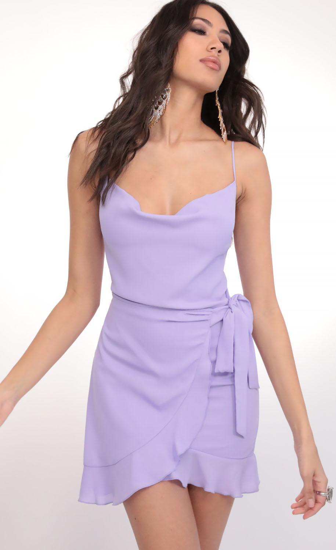 Positano Chiffon Tie Dress in Lavender