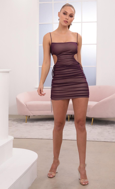 Valerie Cut Out Dress in Purple