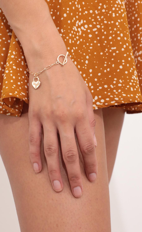 Love Linked Bracelet in Gold