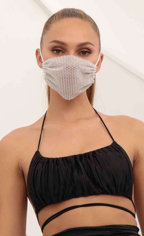 Rhinestone Mesh Mask Cover