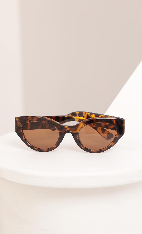Jade Cateye Sunglasses in Tortoise and Brown