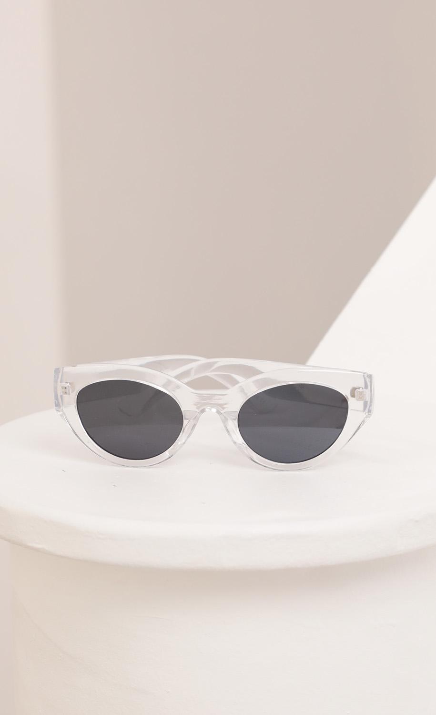 Jade Cateye Sunglasses in Clear