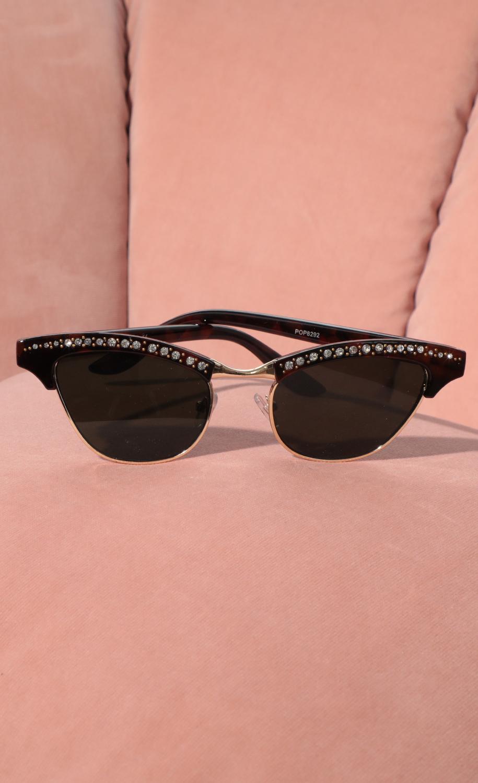 Alexis Cat-Eye Sunglasses in Tortoise
