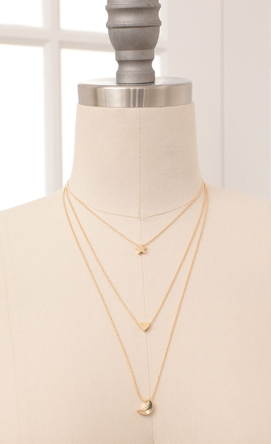 Daydreamer Layered Necklace in Gold