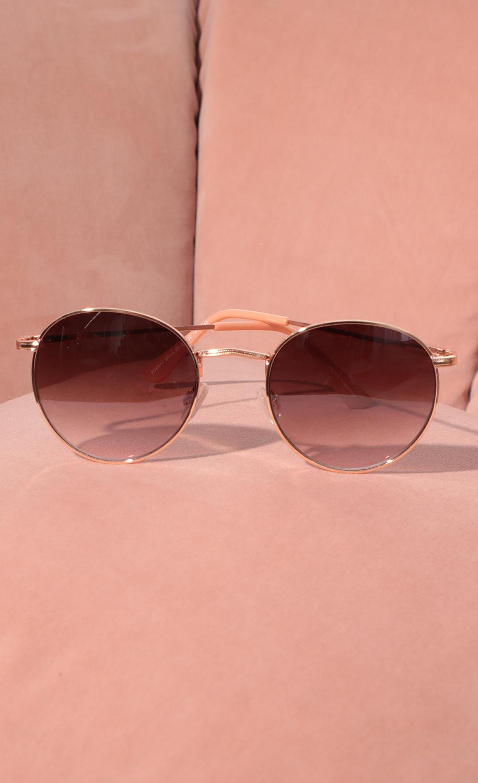 Jessica Round Trim Sunglasses in Pink