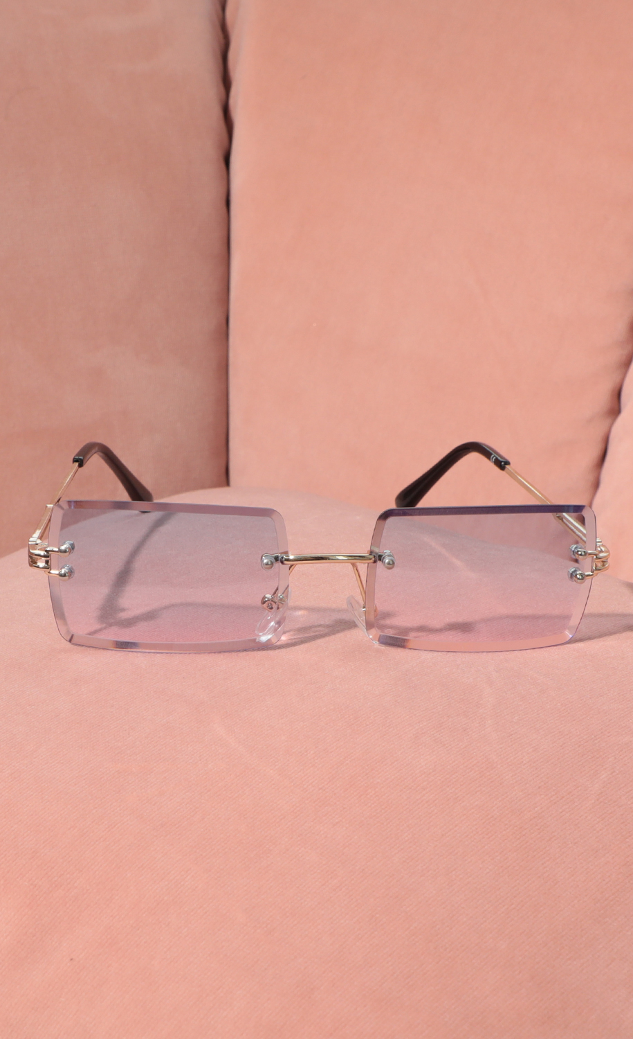 90s Baby Rectangle Sunglasses in Ombre