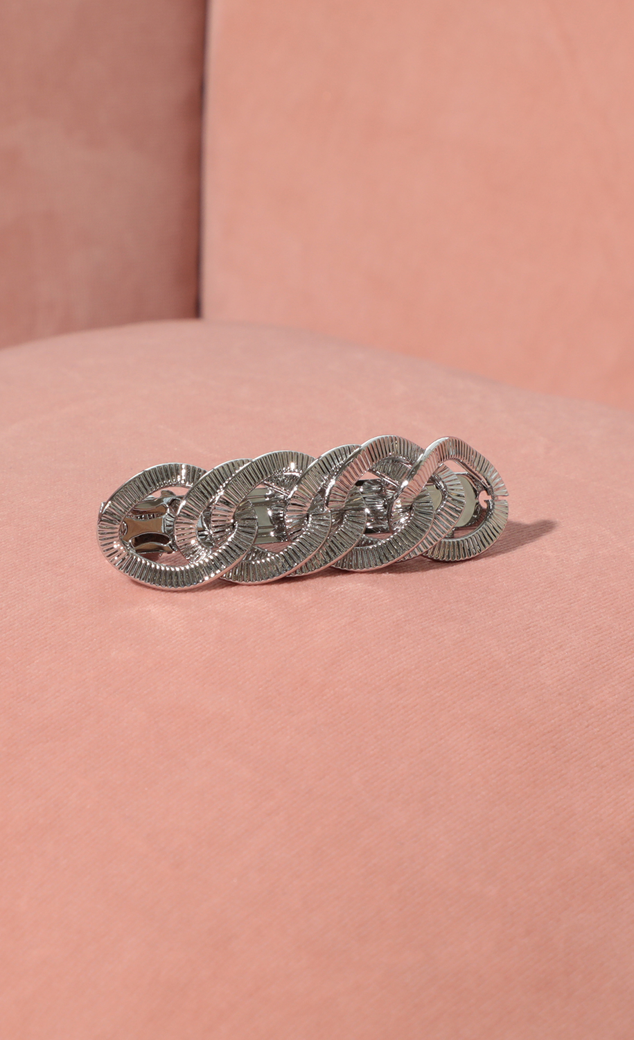 Twisted Silver Hair Clip