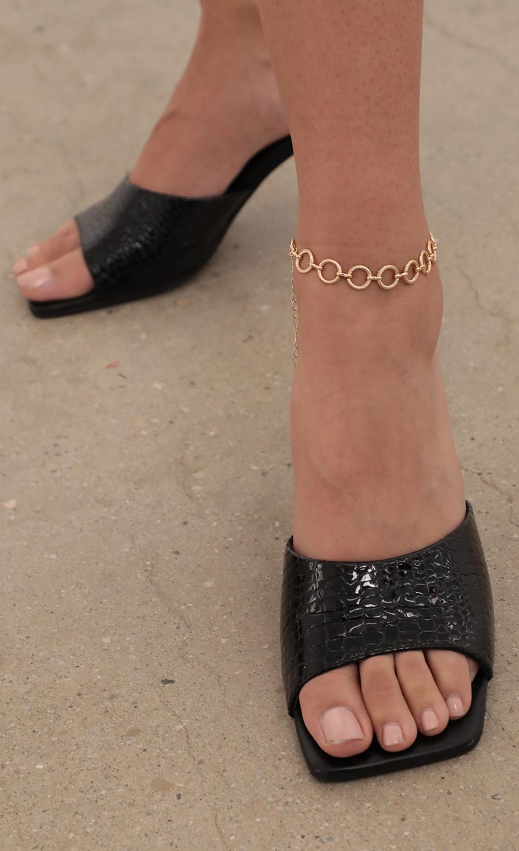 Eyelet Gold Anklet