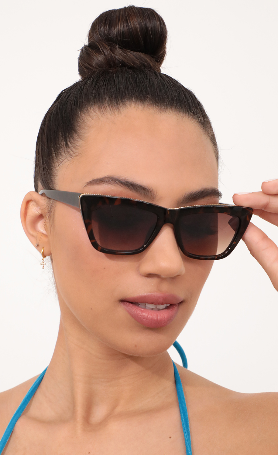 Edge Sunglasses in All Havana Brown