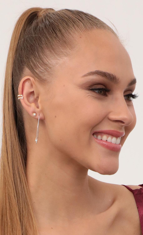 Strike Twice Silver Earrings