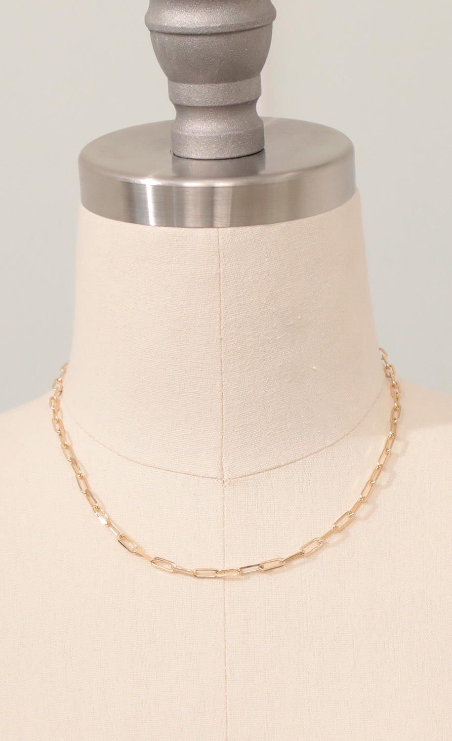 Square Link Chain Necklace in Gold
