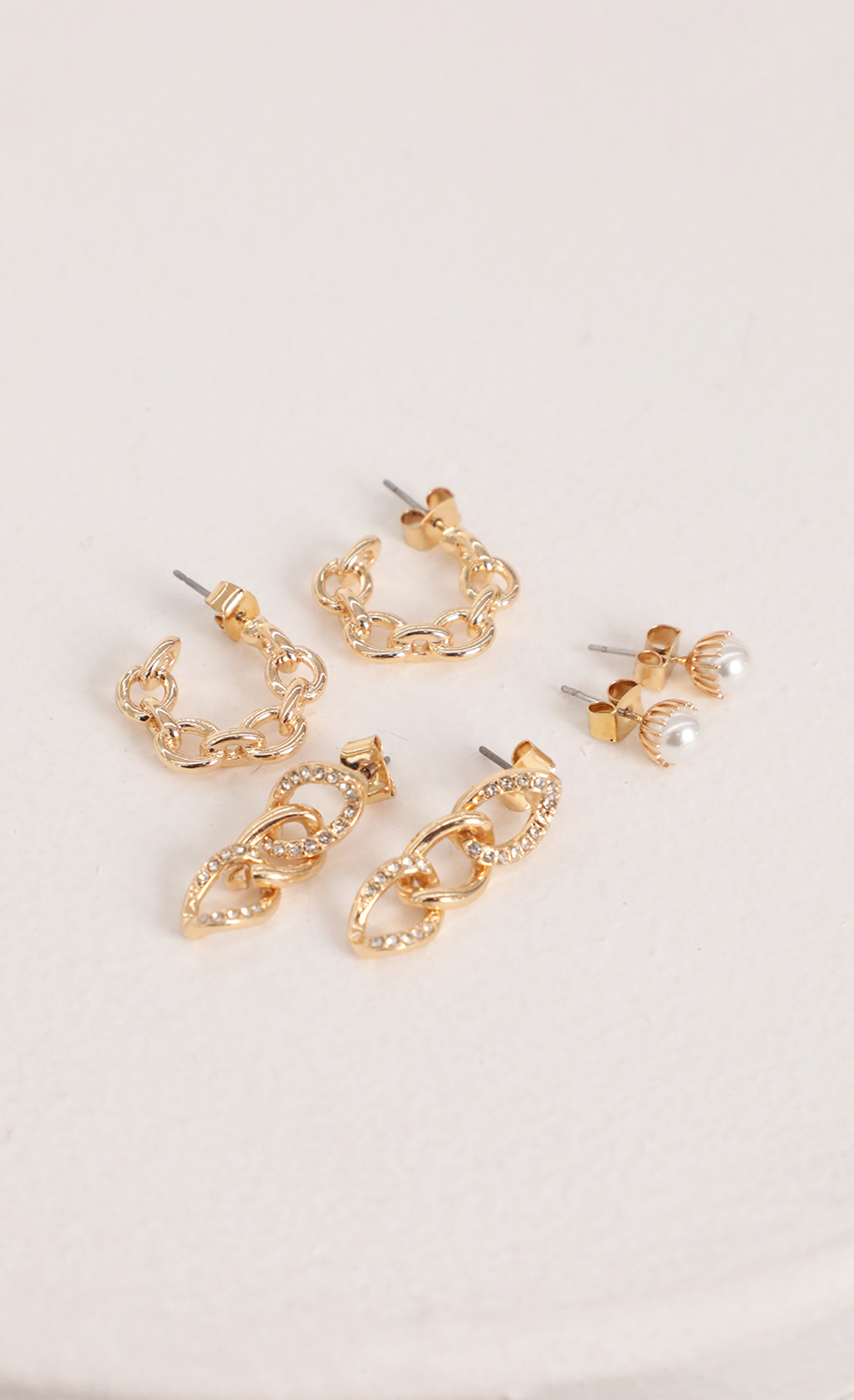 Trio Earring Set in Gold