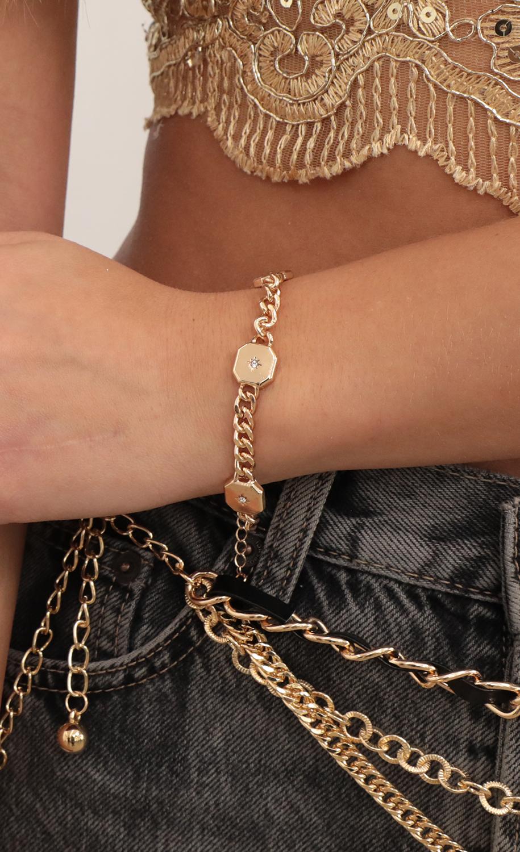 Starburst Chain Bracelet in Gold