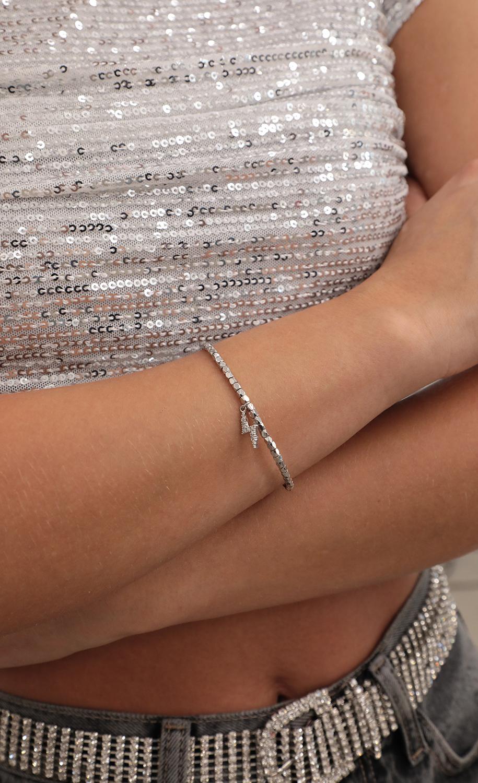 Strike Twice Silver Bracelet